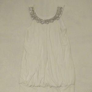B. Darlin White Dressy Top Size 3/4